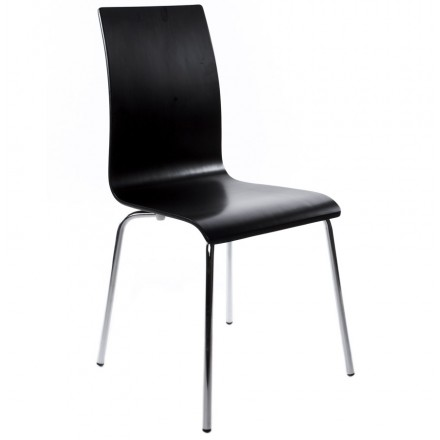 OUST Versatile Chair wood or derived and chrome metal (black)
