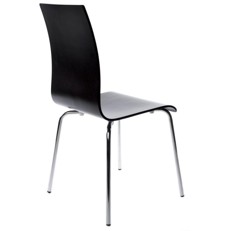 Chaise polyvalente OUST en bois ou dérivé et métal chromé (noir) - image 16680