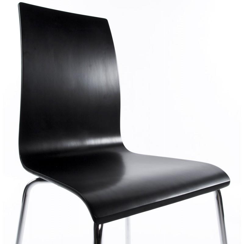 Chaise polyvalente OUST en bois ou dérivé et métal chromé (noir) - image 16681
