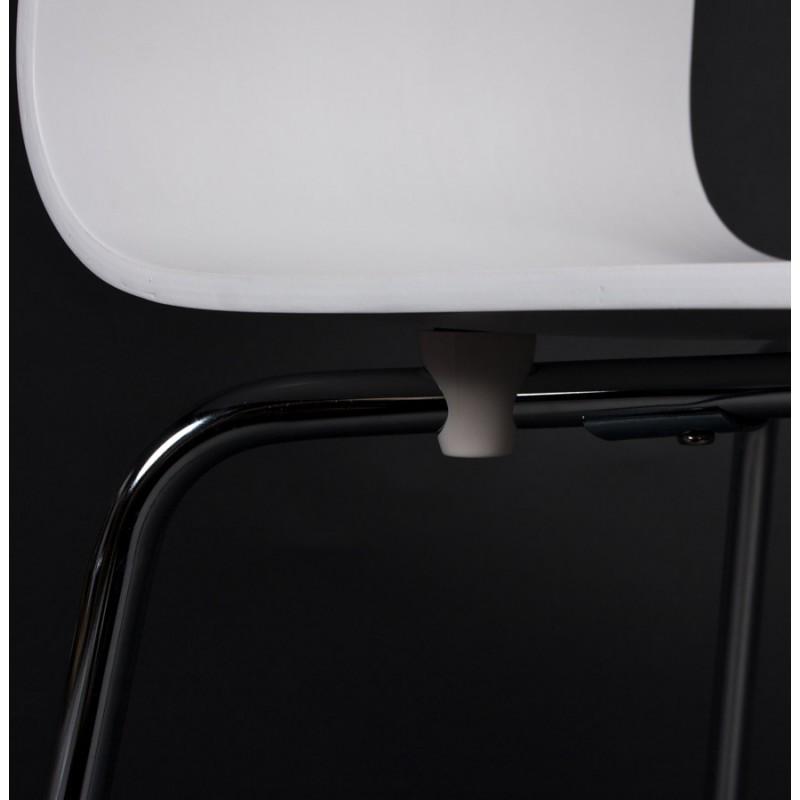 Chaise polyvalente OUST en bois ou dérivé et métal chromé (blanc) - image 16690