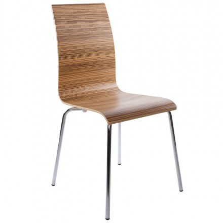 OUST Versatile Chair wood or derived and chrome metal (zebrano)