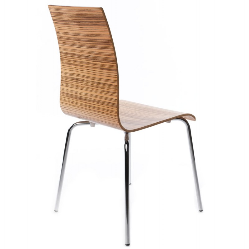 OUST Versatile Chair wood or derived and chrome metal (zebrano) - image 16693
