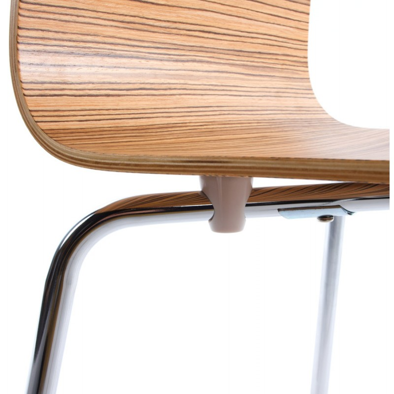 OUST Versatile Chair wood or derived and chrome metal (zebrano) - image 16695