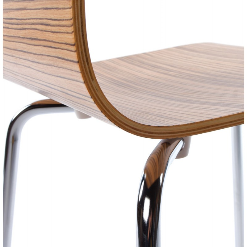 OUST Versatile Chair wood or derived and chrome metal (zebrano) - image 16696