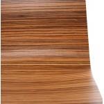 Chaise polyvalente OUST en bois ou dérivé et métal chromé (zebrano)