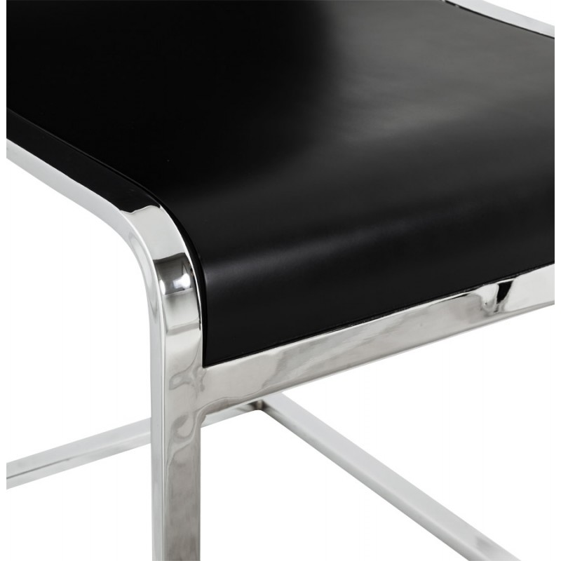 DURANCE Modern Chair wood and chrome metal (black) - image 16705