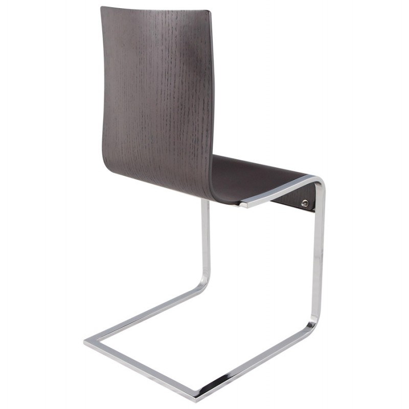 Super Durance Modern Chair Wood And Chrome Metal Wenge Chairs Forskolin Free Trial Chair Design Images Forskolin Free Trialorg