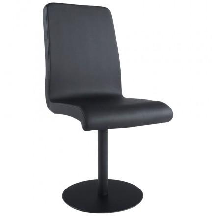 Chaise polyvalente ARC en polyuréthane et métal peint (noir)