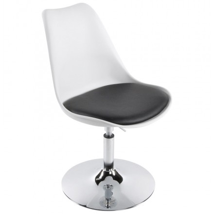 AISNE rotating and adjustable design chair (white and black)