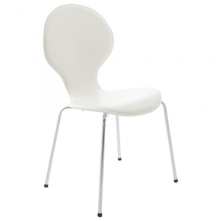 Moderner Story 2941 Stapelbar Stuhl ArrouxweißAmp P80kOnw