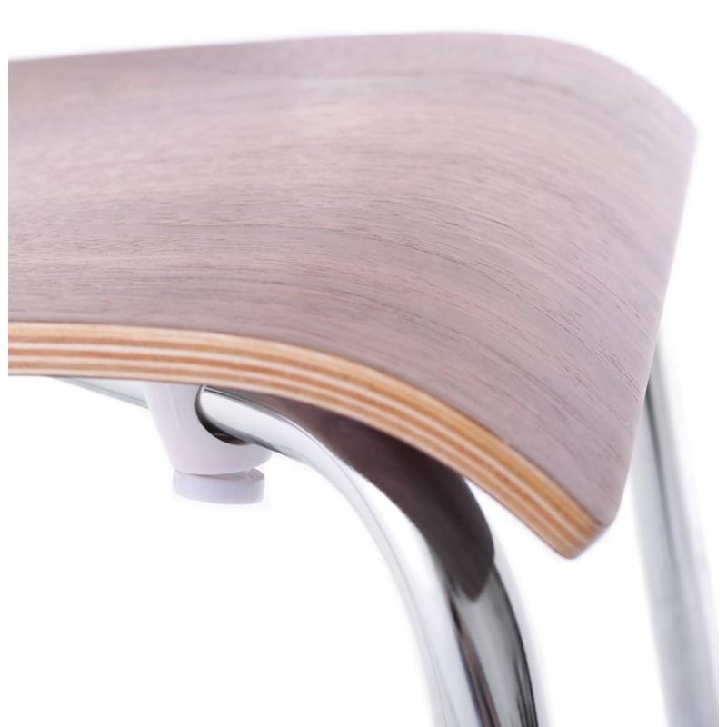 Chaise polyvalente OUST en bois et métal chromé (noyer) - image 16872