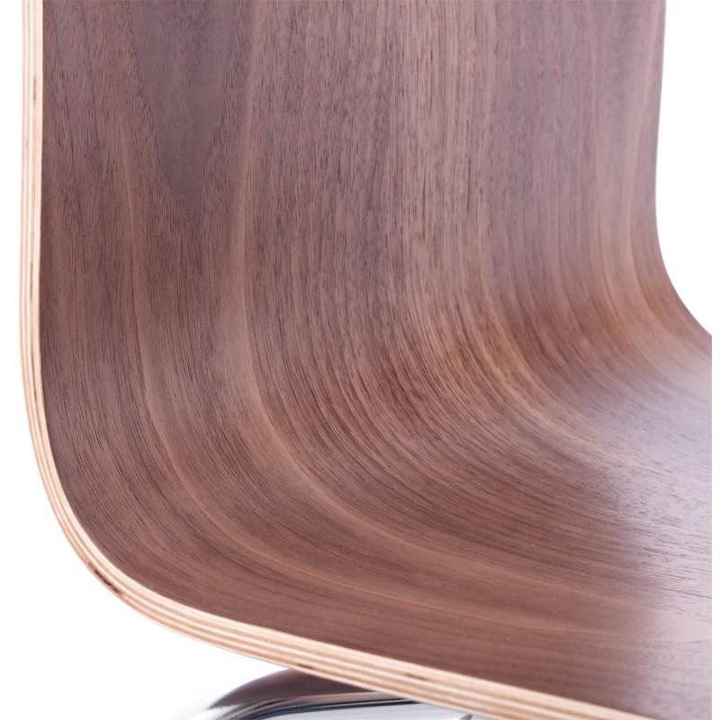 Chaise polyvalente OUST en bois et métal chromé (noyer) - image 16873