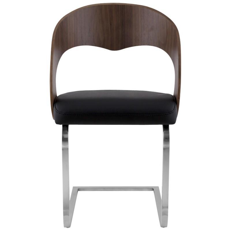 Chaise contemporaine LOING (noyer et noir) - image 16902