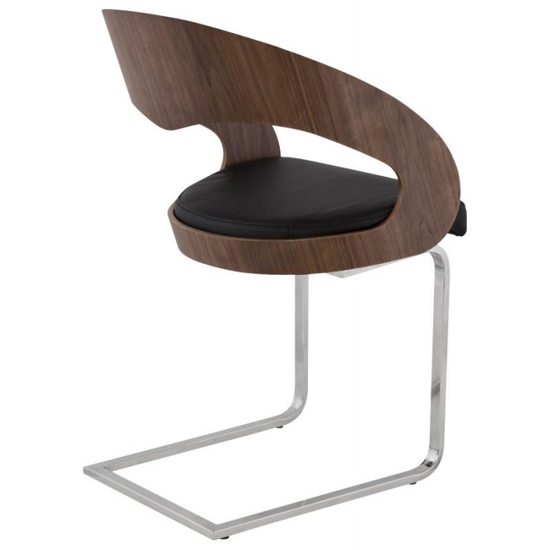 Chaise contemporaine LOING (noyer et noir) - image 16904