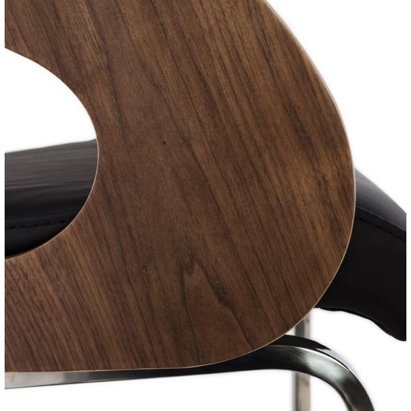 Chaise contemporaine LOING (noyer et noir) - image 16907