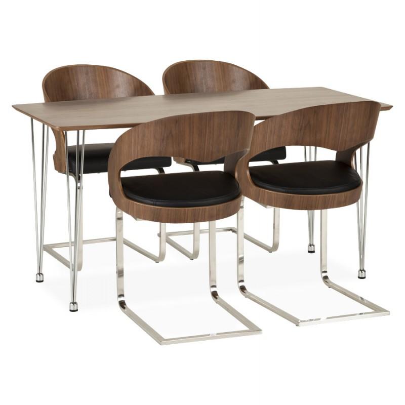 Chaise contemporaine LOING (noyer et noir) - image 16909