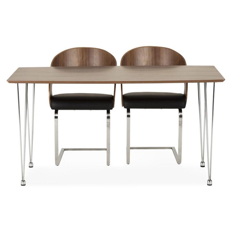 Chaise contemporaine LOING (noyer et noir) - image 16910