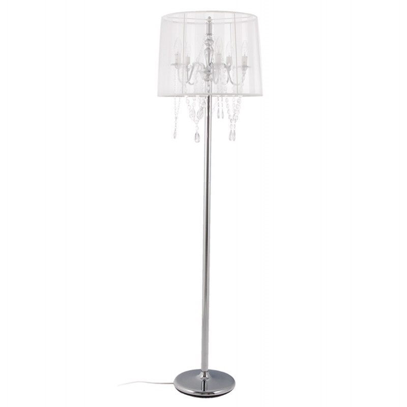 MERION design floor chrome steel lamp (white) - image 16933