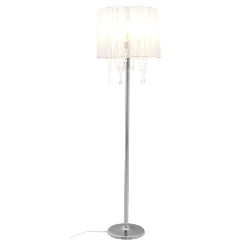 MERION design floor chrome steel lamp (white) - image 16934