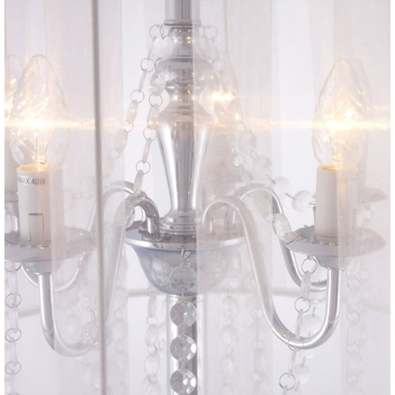 MERION design floor chrome steel lamp (white) - image 16937