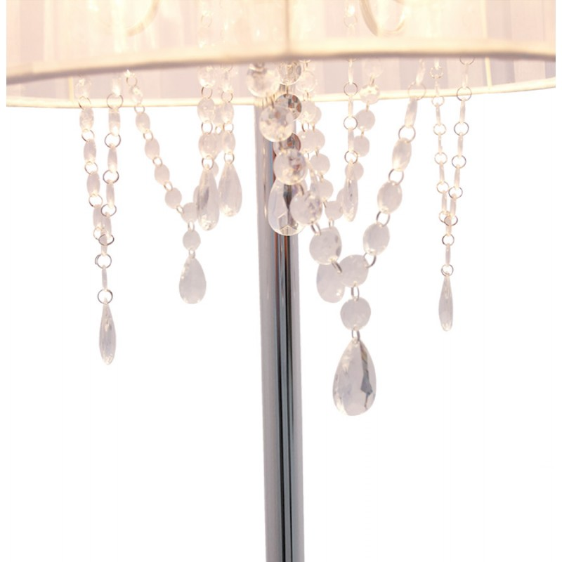 MERION design floor chrome steel lamp (white) - image 16939