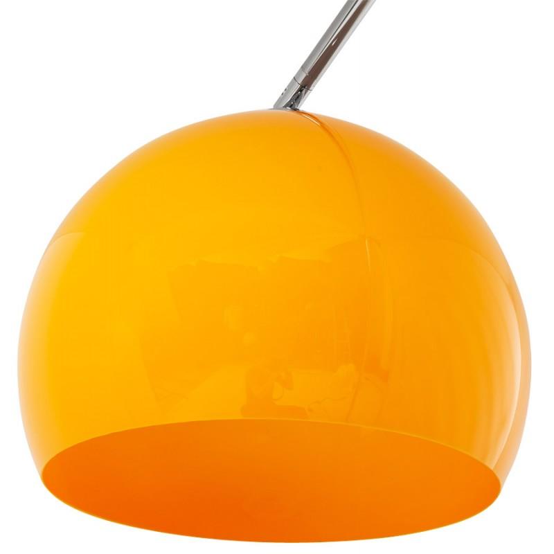 Lampe sur pied design MOEROL SMALL en acier chromé (moyenne et orange) - image 16957