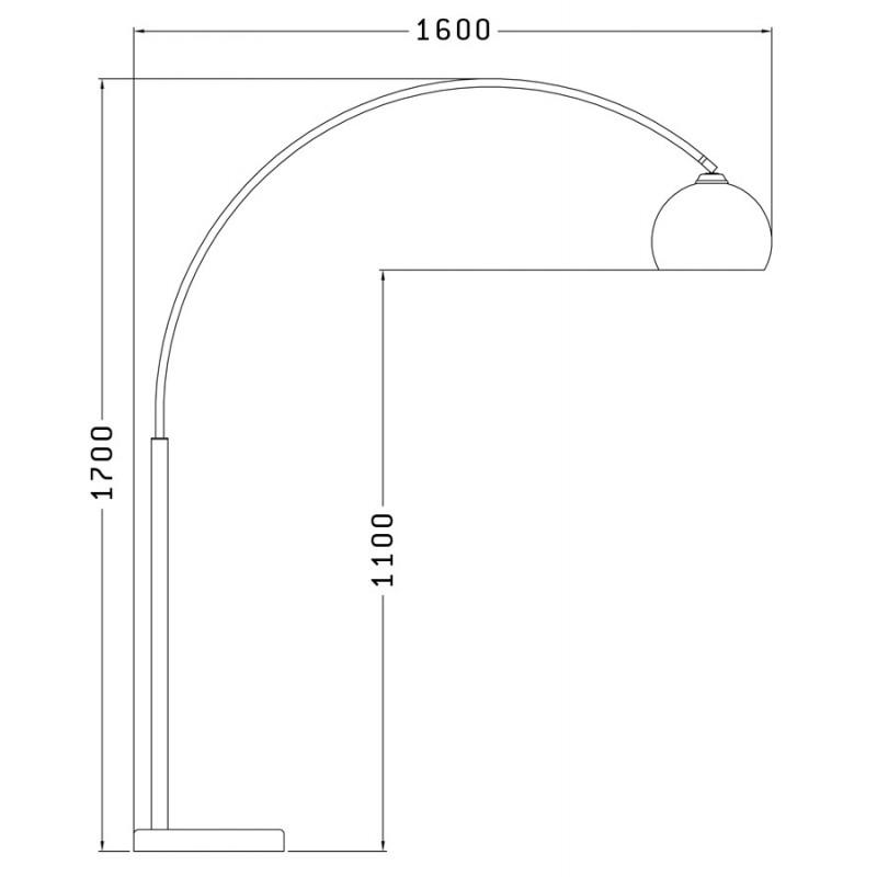 Lampe sur pied design MOEROL SMALL en acier chromé (moyenne et orange) - image 16966