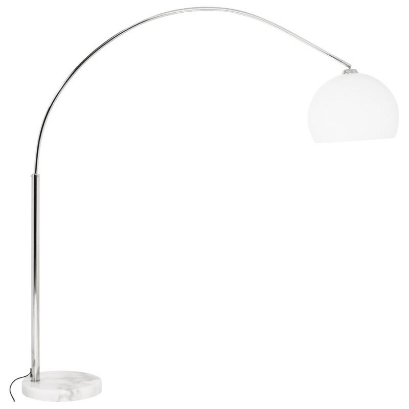 Lampe sur pied design MOEROL SMALL en acier chromé (moyenne et blanche) - image 16967