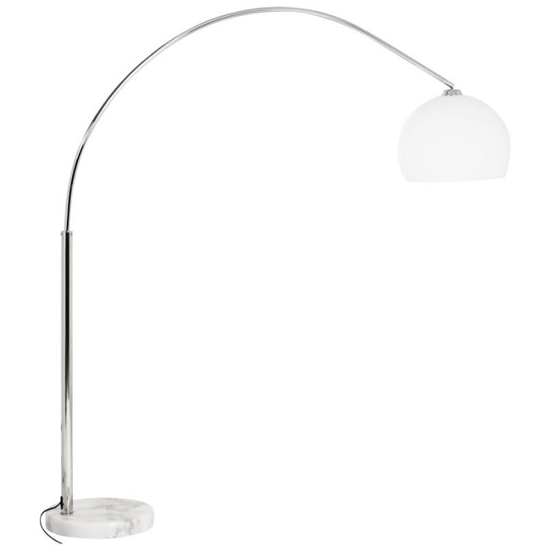 Lampe sur pied design MOEROL SMALL en acier chromé (moyenne et blanche) - image 16968