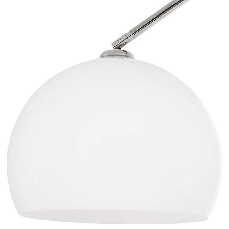 Lampe sur pied design MOEROL SMALL en acier chromé (moyenne et blanche) - image 16972