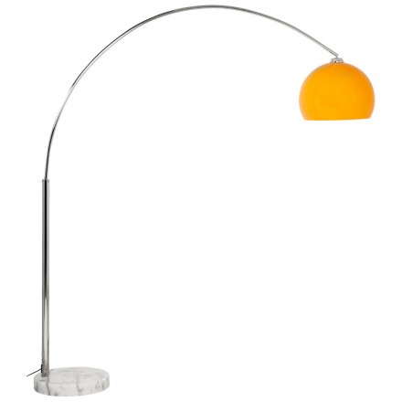 Lamp on foot MOEROL XL adjustable Lampshade design (large and orange)