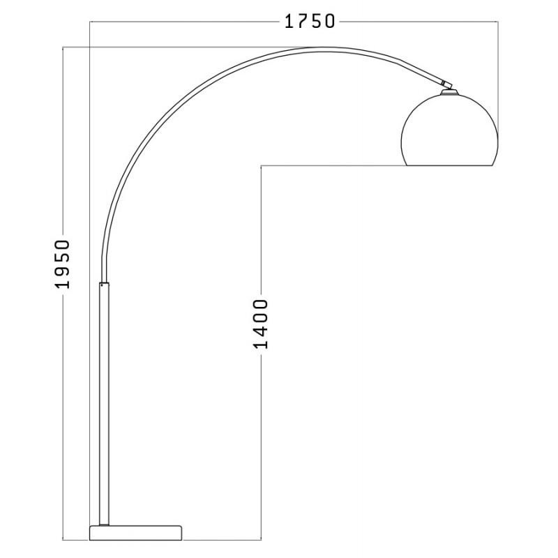 Lámpara de pie de diseño de pantalla ajustable de MOEROL XL (grande y naranja) - image 17008