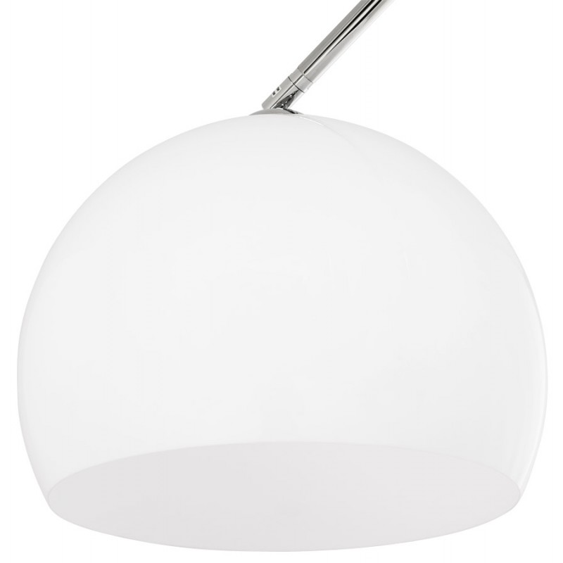 MOEROL XL design floor chrome steel lamp (large and white)  - image 17013