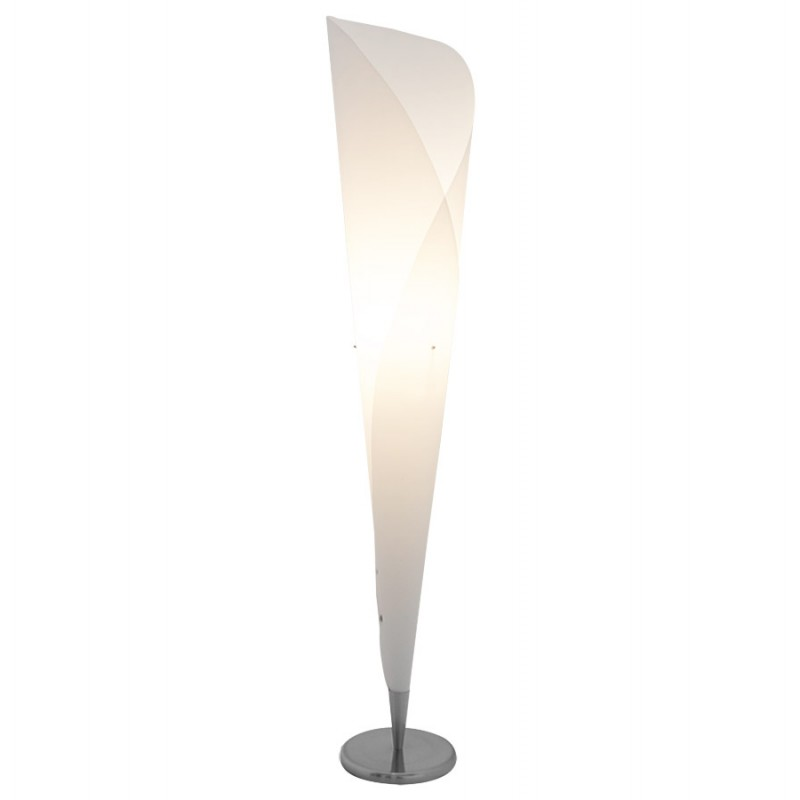 Lampe sur pied design STERNE en acier brossé (blanc) - image 17045