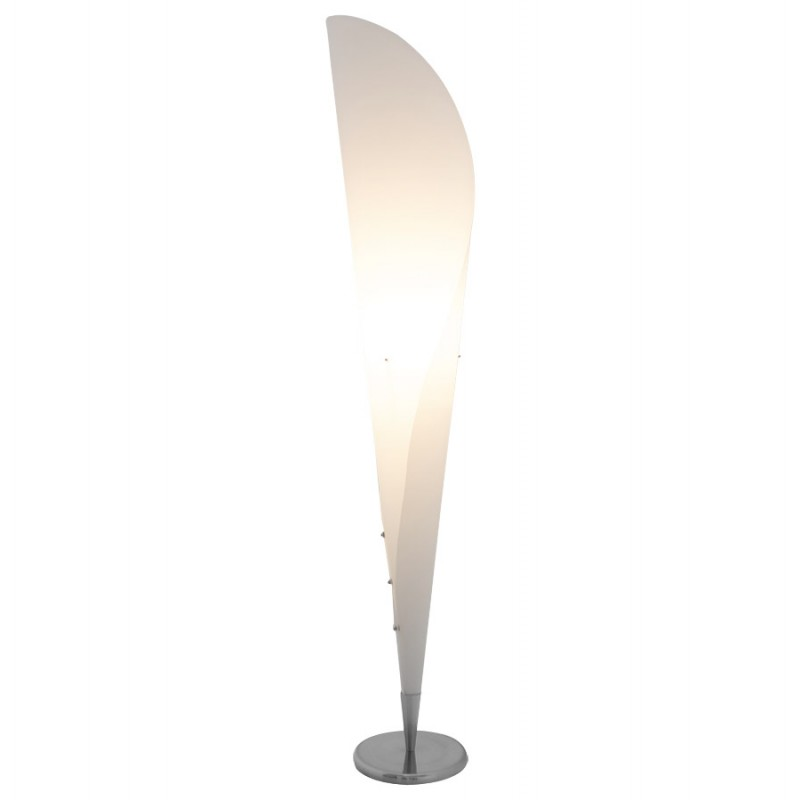 Lampe sur pied design STERNE en acier brossé (blanc) - image 17047