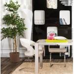 STERNE design floor brushed steel lamp (white)