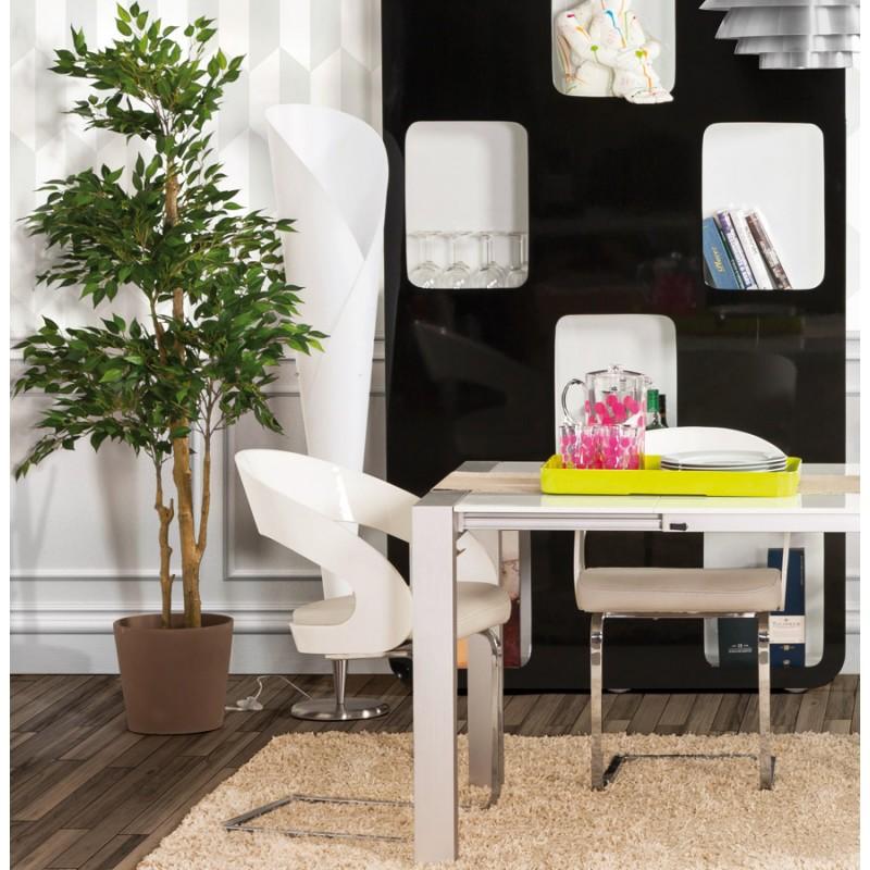 STERNE design floor brushed steel lamp (white) - image 17052