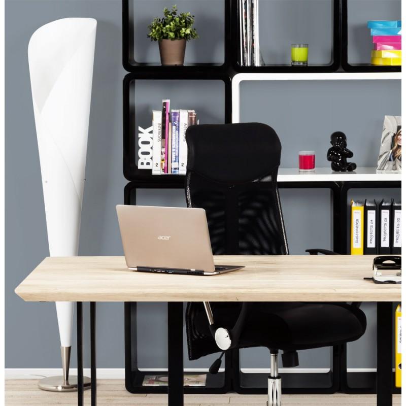 Lampe sur pied design STERNE en acier brossé (blanc) - image 17054