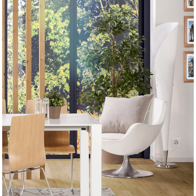 Lampe sur pied design STERNE en acier brossé (blanc) - image 17055