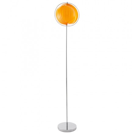 Design Lampe BARBICAN BIG foot aus verchromtem Stahl (Orange)