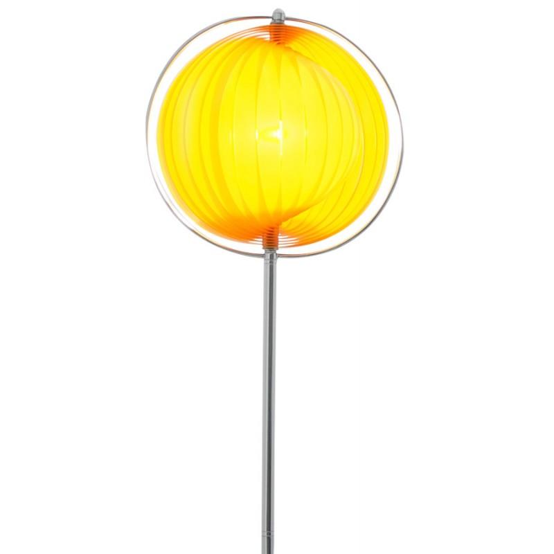 Lamp Design Barbican Big Foot In Chromed Steel Orange
