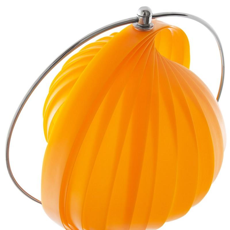 Lampe sur pied design BARBICAN BIG en acier chromé (orange) - image 17064