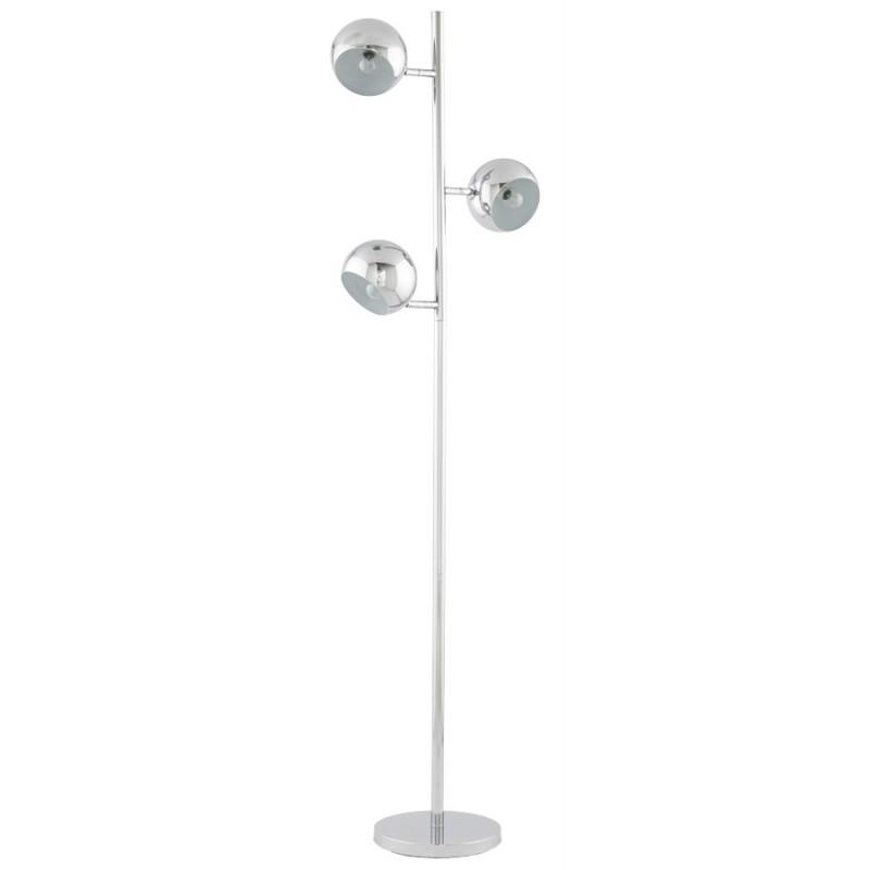 Lampe sur pied design 3 abat-jours TANGARA en acier chromé (chromé) - image 17082