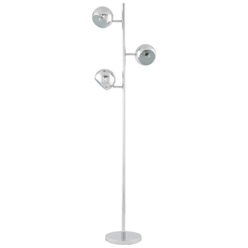 Lampe sur pied design 3 abat-jours TANGARA en acier chromé (chromé) - image 17083