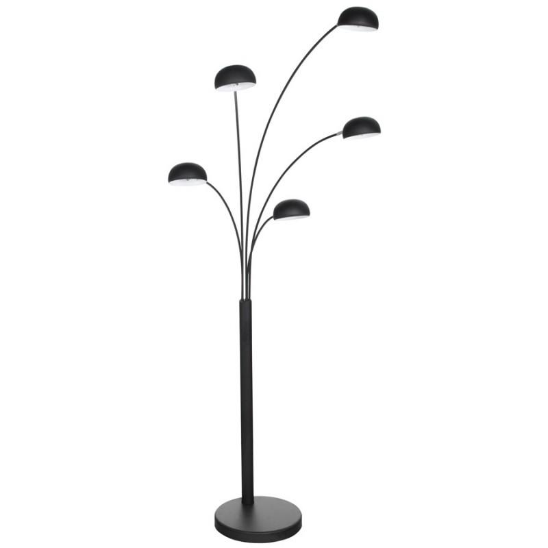 lampe sur pied design 5 abat jours rollier en m tal peint. Black Bedroom Furniture Sets. Home Design Ideas