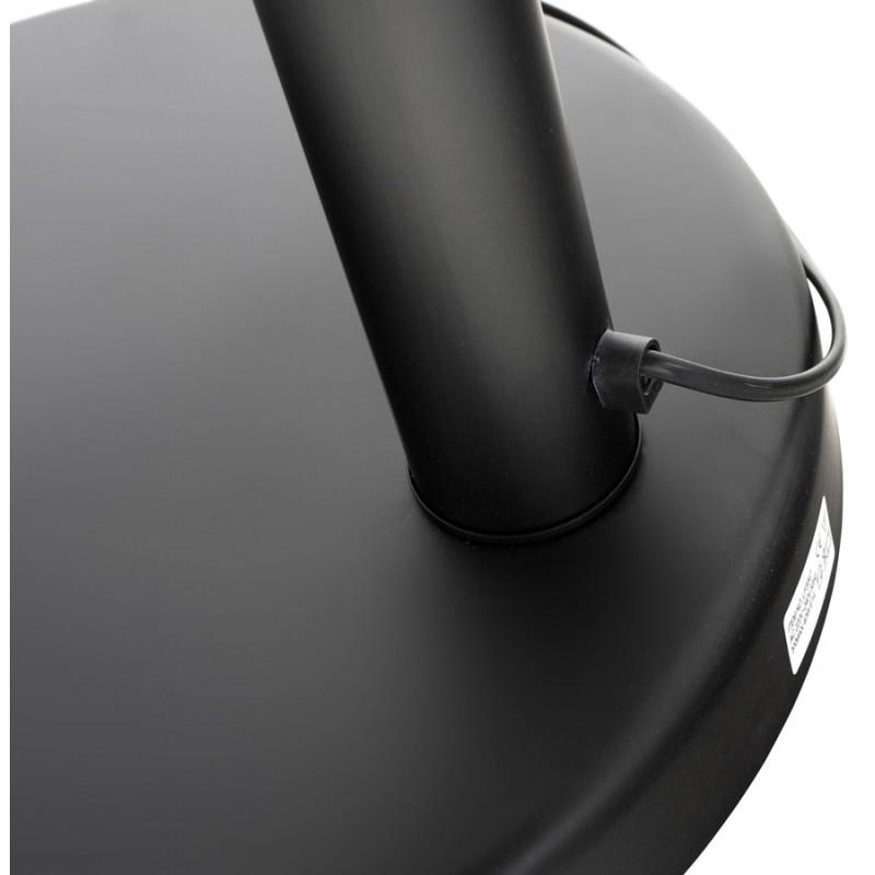 Lampe sur pied design 5 abat-jours ROLLIER en métal peint (noir) - image 17131