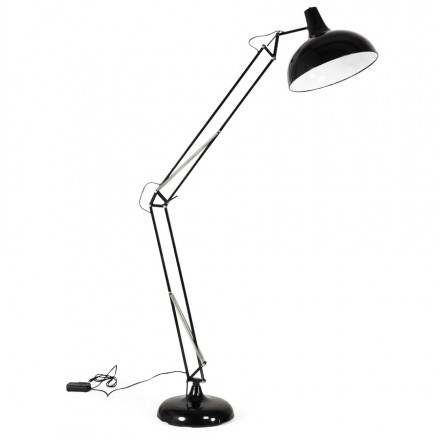 Design floor ROLLIER metal lamp (black)