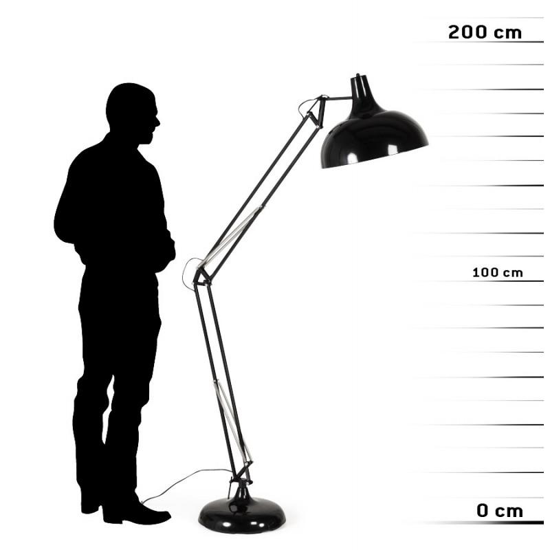 Lampe sur pied design ROLLIER en métal (noir) - image 17147
