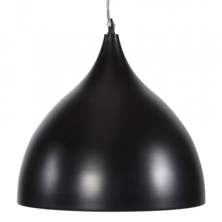 Lampe à suspension design PAON en métal (noir)