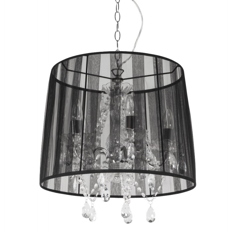 ALOUETTE (black) fabric Lampshade hanging lamp - image 17180